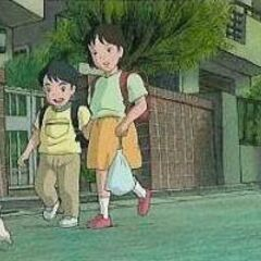 Koro being followed by 2 kids