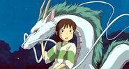 Chihiro with Haku