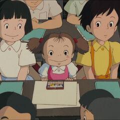 Satsuki with Mei and Michiko