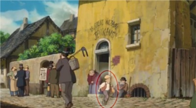 Howl's Moving Castle - Pazu - Easter Egg
