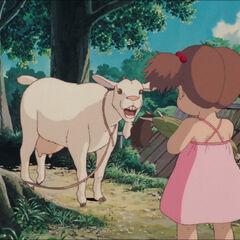 Mei encounters a goat