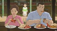Chihiro's parents eat like pig