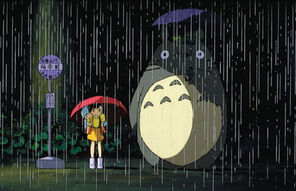 Totoro wallpaper - black