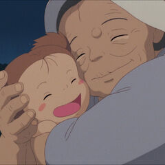 Granny hugging Mei