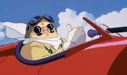 Porco Rosso in airplane