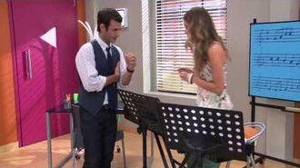 Violetta 2 - Angie y Pablo cantan ¨Algo se enciende¨ - Ep. 42