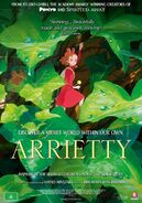 Arrietty y los diminutos póster inglés