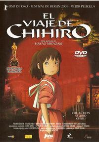 Portada El viaje de Chihiro ESP