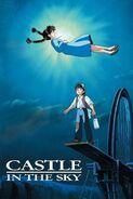 El castillo en el cielo póster inglés