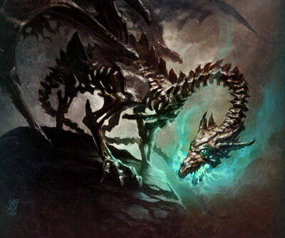 640x535 7232 Dracolich 2d illustration dragon fantasy picture image digital art