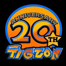 Tigzon 20th Anniversary logo