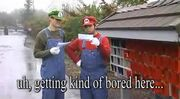 Stupid Mario Brothers Mario and Luigi Reading Bowser's Letter