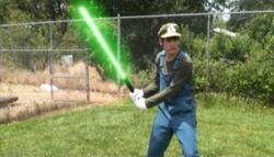 Luigi's Lightsaber