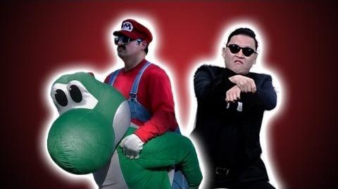 PSY - GANGNAM STYLE (강남스타일) Nintendo Style Gangnam Style Music Video Parody - Mario Lyrics