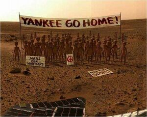 Mars protest