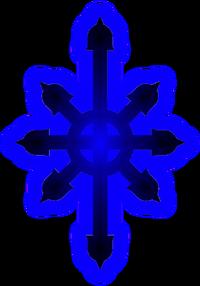 Early subgenius cross blueglow
