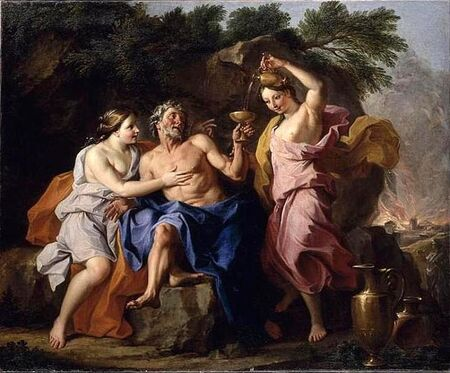 Noël Coypel - Loth and his Daughters, 1704