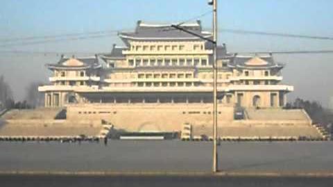 Dobbshead on Kim Il Sung Square Pyongyang DPR Korea!