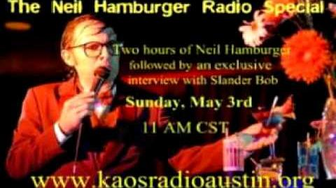 Neil Hamburger Radio Special interview with Slander Bob