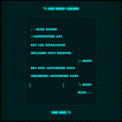 The sub warp loader's second update, which removed the drop zone and changed the color scheme.
