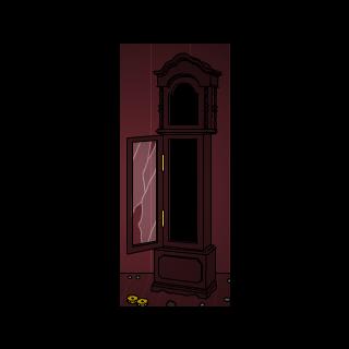 The broken clock.
