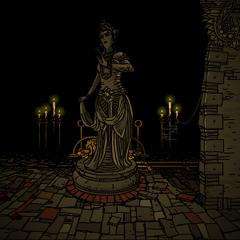 神殿里代表伊丽莎白的雕像。
