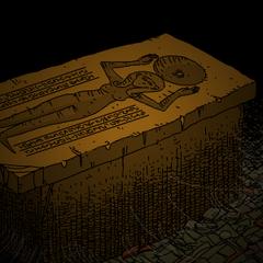 伊丽莎白的坟墓细节。