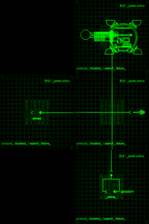 Turret access map