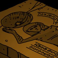 A detail of Murtaugh's tomb.