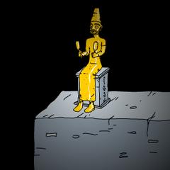 The statue in Sub4 that symbolizes Murtaugh.