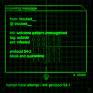 Blocked system message