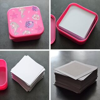 An image showing Mateusz Skutnik's prototype deck in a pink ocean themed box.