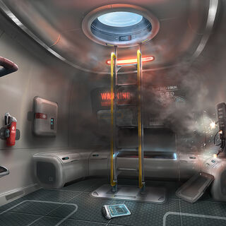 Escape Pod Interior Concept Art