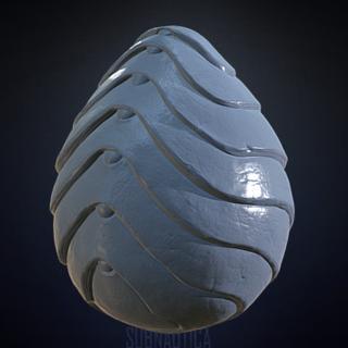 Un modelo inicial del huevo del Emperador Marino Leviatán visto en <a rel=