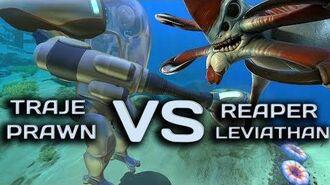 Subnautica - Traje Prawn Vs Reaper Leviathan - Morri !? PRAWN SUIT VERSUS REAPER - Sexta-feira 13