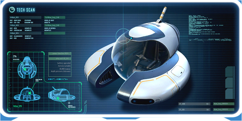 Seamoth subnautica wiki fandom powered by wikia the seamoth is a one person vehicle with an independent replaceable power cell fitted in the rear and a fully customizable design malvernweather Images