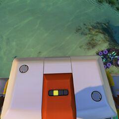 La bahía de vehículos portátil siendo recogida por el jugador.