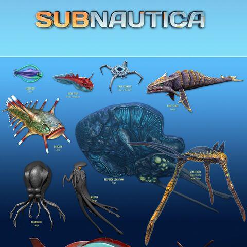 Hoja 2 de la fauna de Subnautica