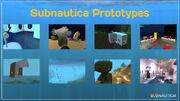 Subnautica prototypes