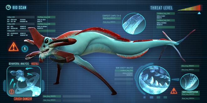 Reaper Leviathan | Subnautica Wiki | FANDOM powered by Wikia