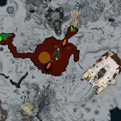 Mapa de la Zona Volcánica Inactiva.
