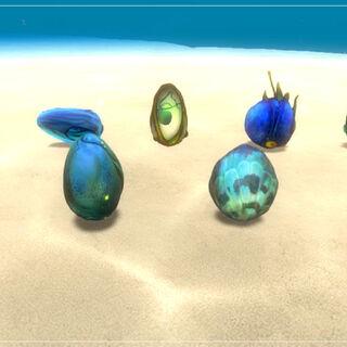 Huevos de criaturas de <a rel=