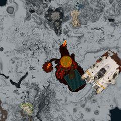 Mapa de la Zona Volcánica Activa.