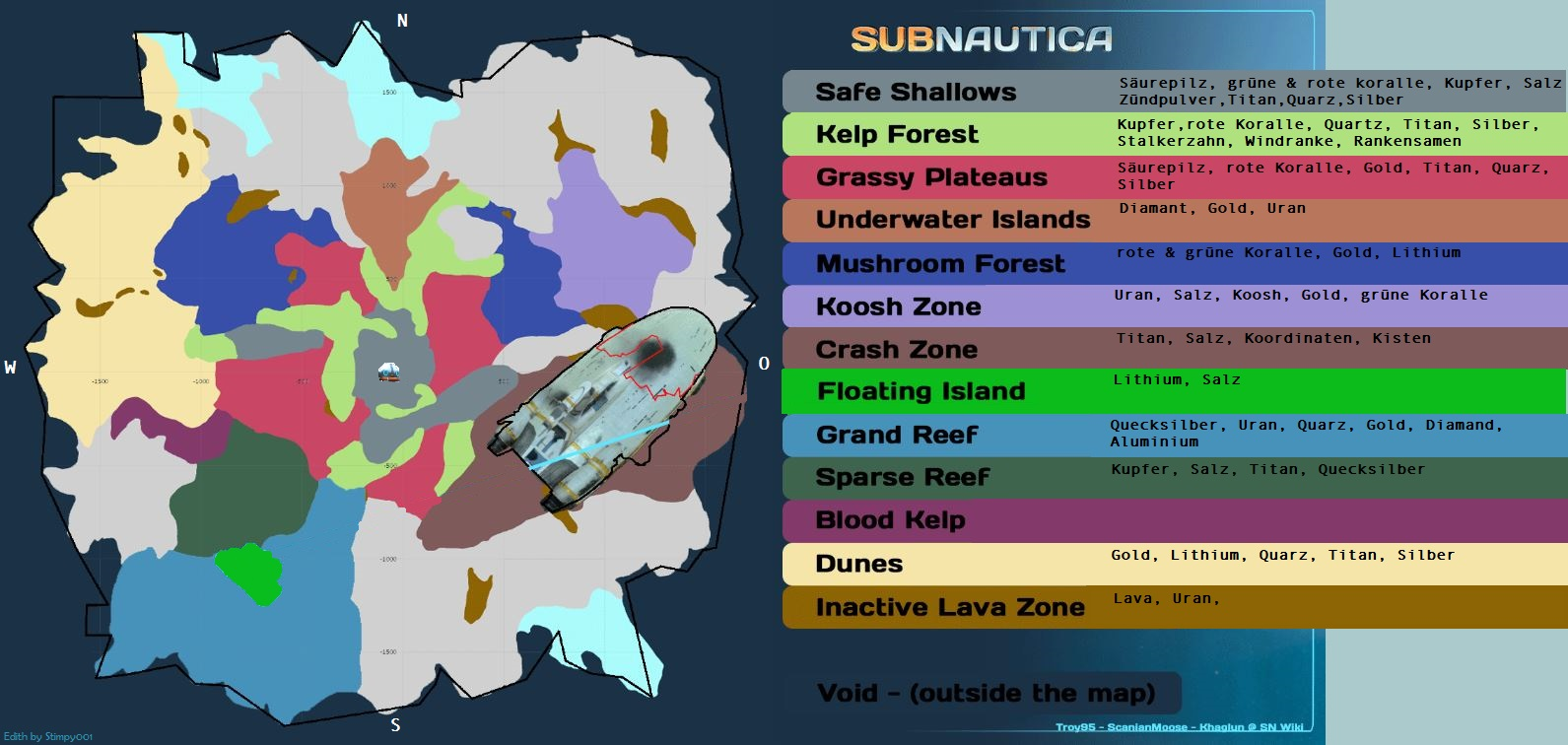 Subnautica Karte Deutsch.Diamant Karte Creactie