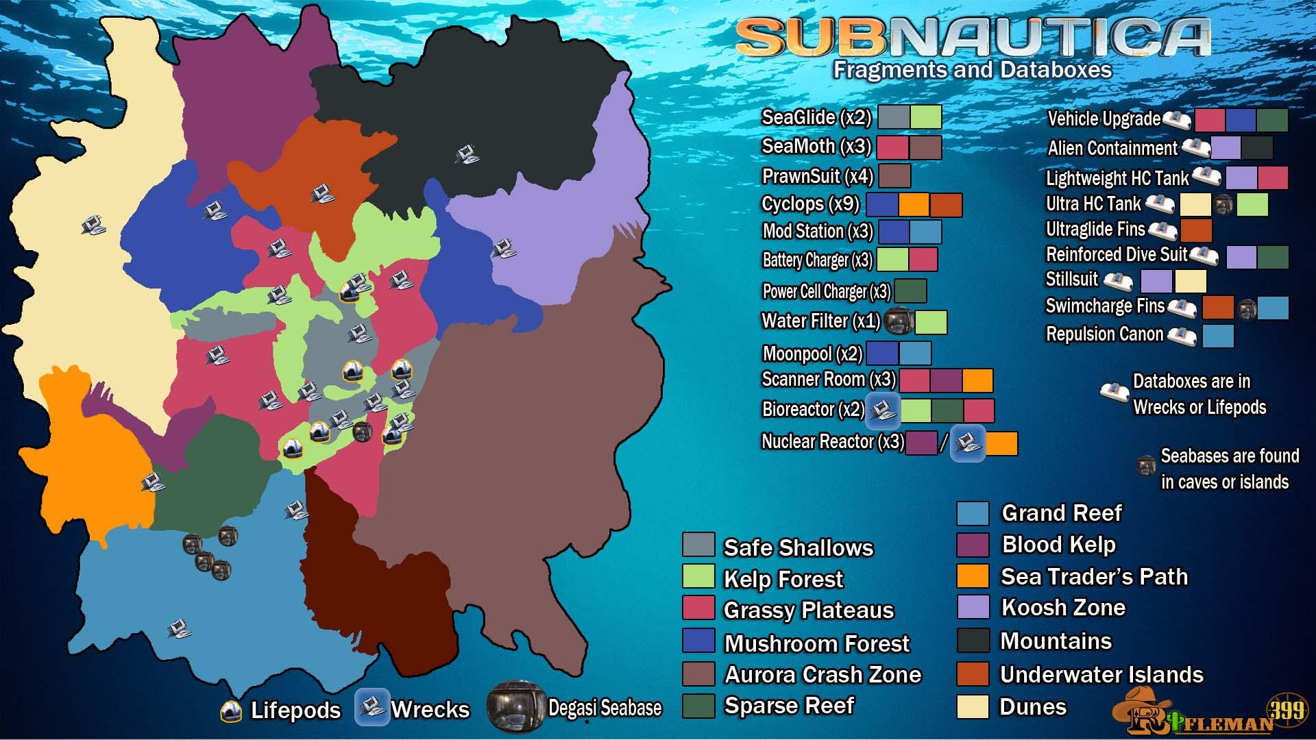 Subnautica Karte.Subnautica 2018 Biome Map Hd Wallpapers