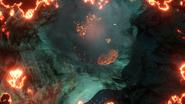 Lava Geyser Nahaufnahme