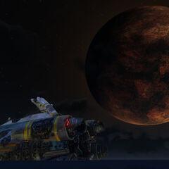 La luna más cercana y larga del Planeta 4546B.