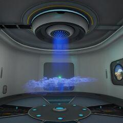 Interior de la sala escáner.