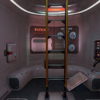 Interior of the Escape Pod after using a welder to repair broken electronics