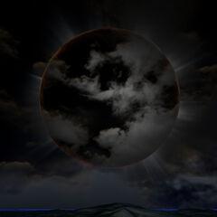 Otra vista del eclipse solar.